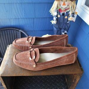 Anne Klein iFlex Brown Suede Driving Loafer's